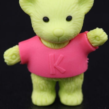 Green Standing Teddy Bear Eraser Series Two