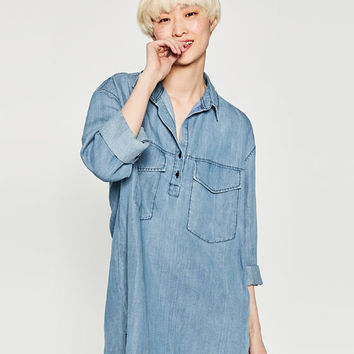 OVERSIZED SHIRT - View All-DRESSES-WOMAN | ZARA United States