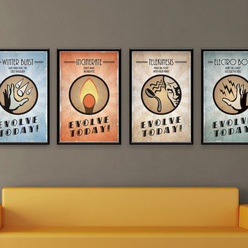 Bioshock Inspired Vintage Poster Series - Evolve Today Plasmids
