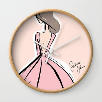 La Belle Fille Wall Clock by Fenn Fashion