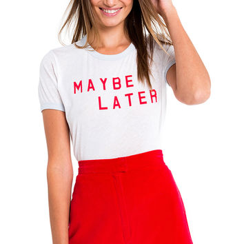 Maybe Later Johnny Ringer Tee - Wildfox