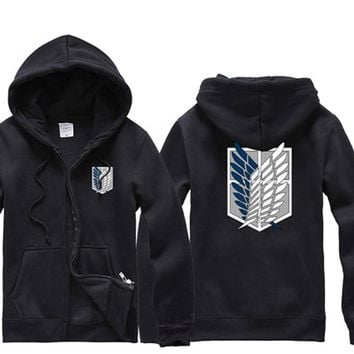 New Attack on Titan cosplay clothes Survey corps Logo thickening outerwear sweatshirt hoodies for fashion men women