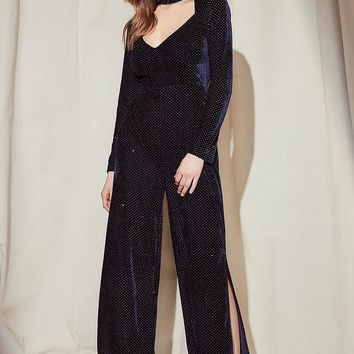 Nasty Gal Studio Joan Velvet Jumpsuit