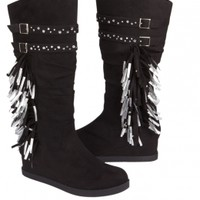 Mid-calf Fringe Boots | Girls Boots Shoes | Shop Justice