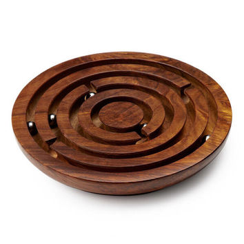 Wooden Labyrinth Board - Puzzle Haven