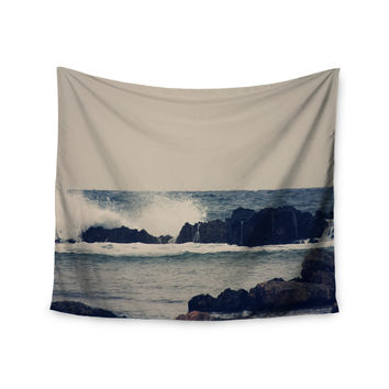 "Sylvia Coomes ""Ocean Blue 2"" White Coastal Wall Tapestry"