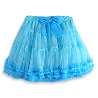 Pumpkin Patch - skirt - party princess mesh tiered skirt - S2GL70023 - sky - 5 to 12