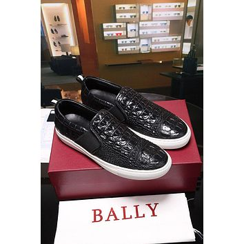 Bally Herald Men's Lamb Leather Skate Trainer In Black Sneakers Shoes - Sale