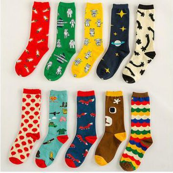 Women's Multiple Printed Socks