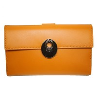 Gucci Leather Continental Flap Wallet 231835, Orange