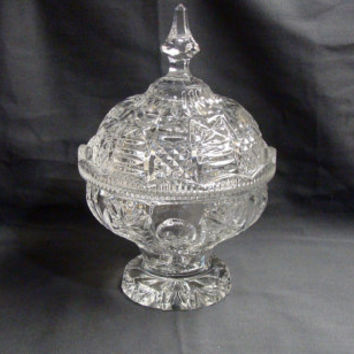 Crystal Clear Industries Heavy Lead Crystal Pedestal Candy Dish