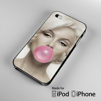 cover Marilyn Monroe Bubblegum iPhone 4S 5S 5C 6 6Plus, iPod 4 5, LG G2 G3, Sony Z2 Case