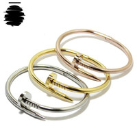 Cartier Love Inspired Replica Gold, Silver, Rose Gold, Bangle Nail Bracelet (without Rhinestone)