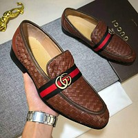 Gucci New Trending Men Casual Stylish Cowhide Shoes High Quality I-XIMIN-WMNX
