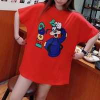 Balenciaga Loose Casual Pattern Blended Cartoon Letter Simple Fashion All-match T-Shirt