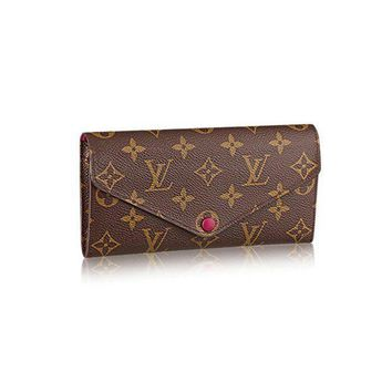 DCCK Authentic Louis Vuitton Monogram Canvas Fuchsia Josephine Wallet Article: M60708