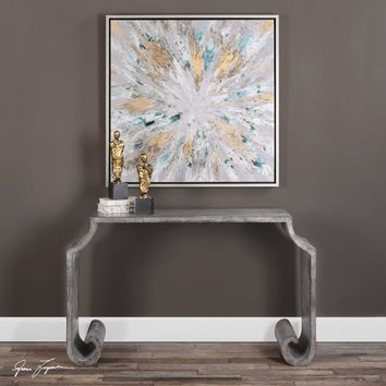 Uttermost Agathon Stone Gray Console Table