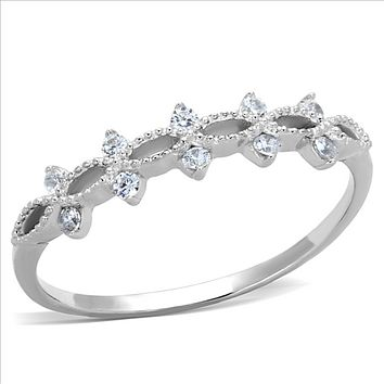 A Perfect .56TCW Round Cut Russian Lab Diamond Ring