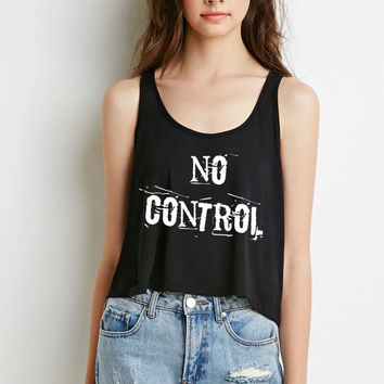 "One Direction ""No Control"" Boxy, Cropped Tank Top"