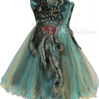 Gorgeous A-Line Sweetheart Embroidery Beading Short Cocktail/Party Dress