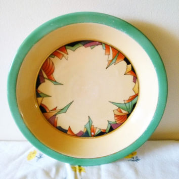 Extremely Rare Royal Rochester Modernistic Art Deco Pie Plate, Fraunfelter Ohio China, Royal Rochester Royalite for Baking, Art Deco Pie Pan