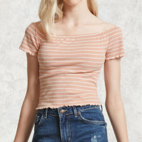 Striped Ruffled Top