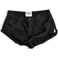 One Teaspoon 2016 || Bandits shorts in black oak