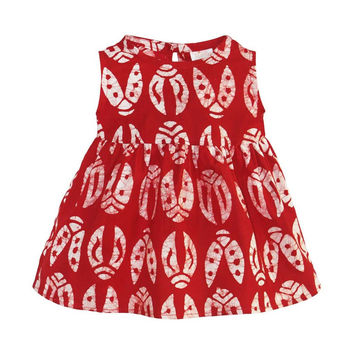 Fair Trade Baby Sundress Ladybugs - Red