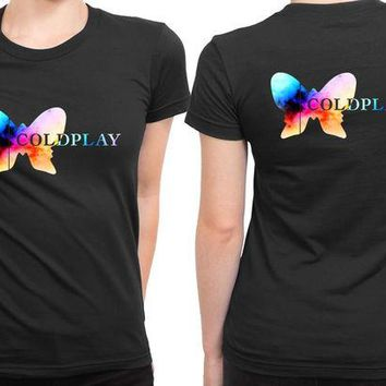 VONEED6 Coldplay Logo Colorize 2 Sided Womens T Shirt