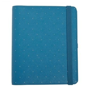 15/16 TEXTURED LEATHER TIME PLANNER LARGE: OCEAN