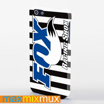 Fox Racing Shox Black And White Stripes iPhone 4/4S, 5/5S, 5C Series Full Wrap Case