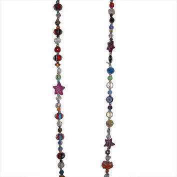 Glass and Crystal Multi-Colored Long Necklace