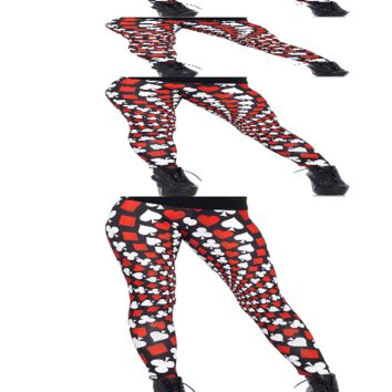 Leg Avenue Totally Trippy Psychadelic Card Print Leggings 13546