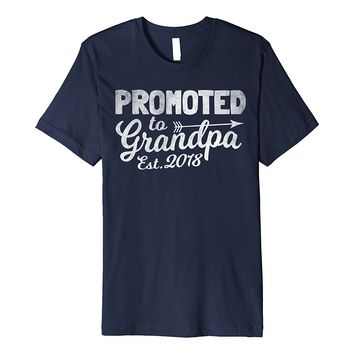 Funny New Grandpa Shirt - Promoted To Grandpa Est. 2018 Tee