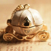Fashion Women Pumpkin Carriage Car Pendant Long Chain Sweater Necklace Jewelry Gift = 1645828356