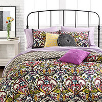 Mosaic Damask 3 Piece Duvet Cover Sets - Bedding Collections - Bed & Bath - Macy's