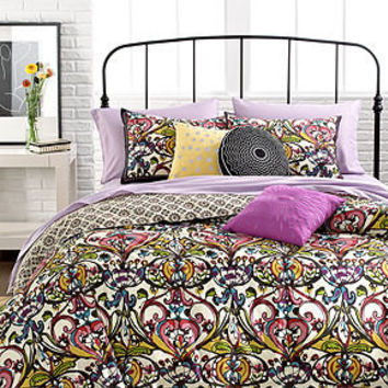 Mosaic Damask 3 Piece Duvet Cover Sets - Duvet Covers - Bed & Bath - Macy's