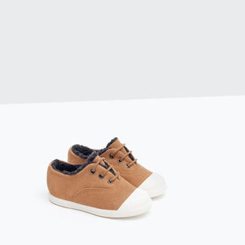 LEATHER PLIMSOLL WITH CAP TOE