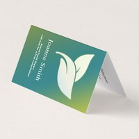 Aroma Therapy Leaves with Green and Blue Gradient Business Card