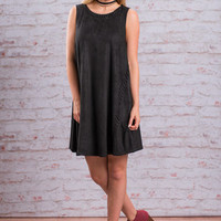 No Basic Stitch Dress, Black