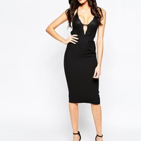 Oh My Love Midi Dress with Lace Trim Detail at asos.com