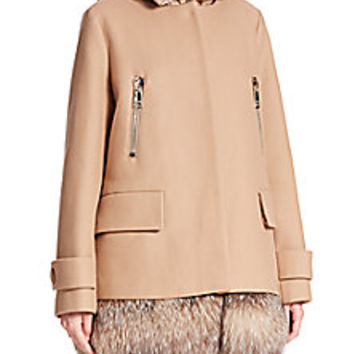 Moncler - Fenelon Two-Piece Fur-Trimmed Jacket - Saks Fifth Avenue Mobile