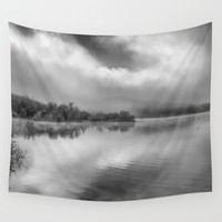 """Looking For Dreams"". Foggy morning Wall Tapestry by Guido Montañés"
