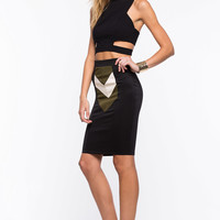 Color Play Pencil Skirt