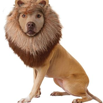 Lion Dog Costume (Medium,Brown)