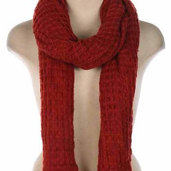Rust Woven Scarf