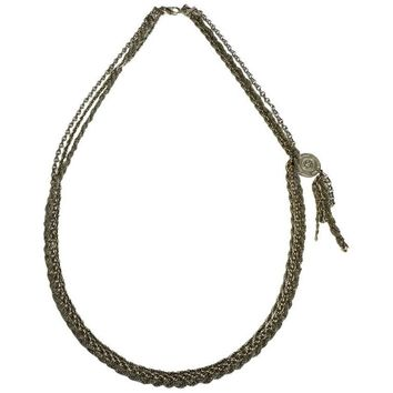 CHANEL 3 Chains Necklace in Gilded Metal