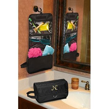 Personalized Jet-Setter Hanging Toiletry Bag Free Engraving