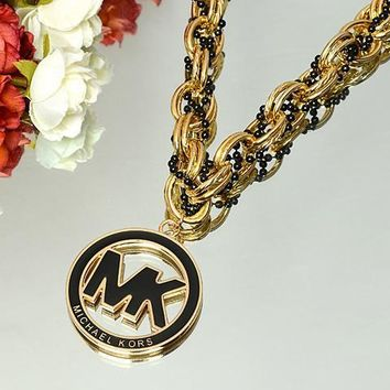 MK Fashion Logo Round Shape Necklace