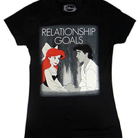 Disney Little Mermaid Ariel Relationship Goals Juniors T-shirt